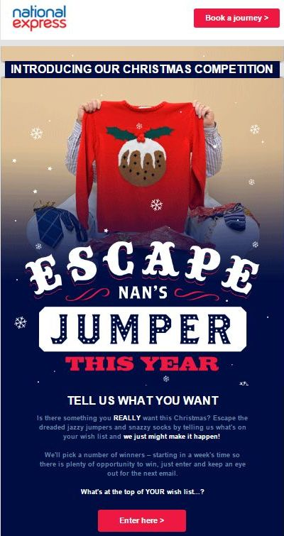 National Express假日简讯上的圣诞有奖竞赛