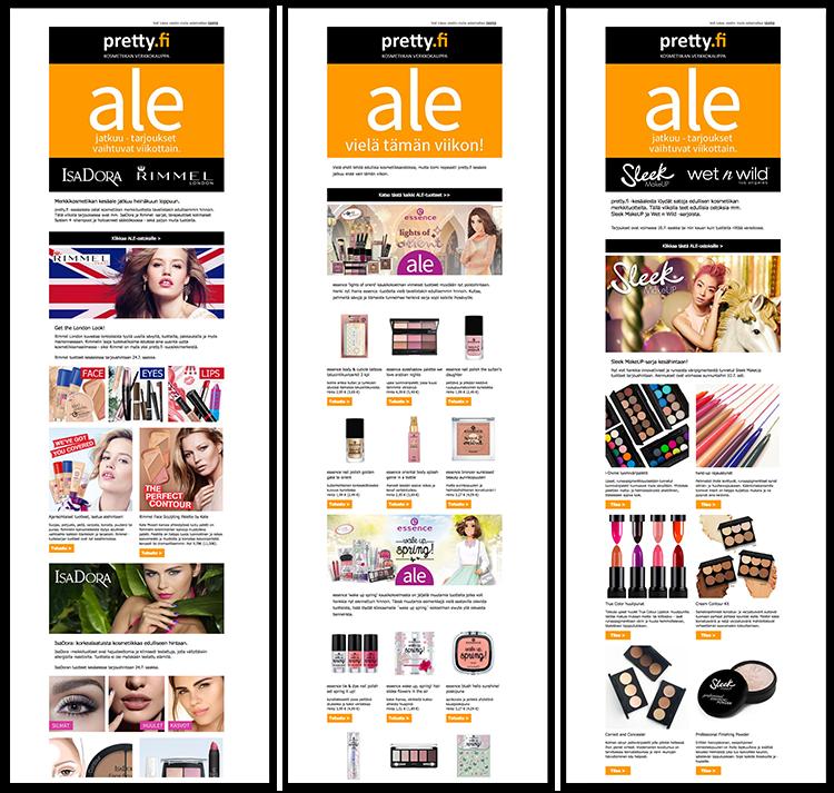 美妆资讯的显示对于不同目标群体中的不同收件人是不同的。这就是由个性化内容版块完成的