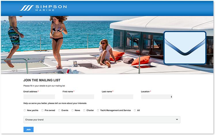 Simpson Marine在其资讯订阅过程中会对用户的兴趣点进行询问。