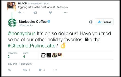 通过与一个快乐的客户进行交谈,星巴克不仅确保了客户的忠诚度,还同时促进了交叉销售。